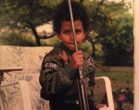 wildlife conservation in ethiopia was a passion for aziz at a young age. this is a picture of him as a small child.